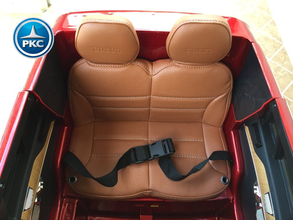 Coche electrico para niños Volvo XC90 Rojo Metalizado asiento acolchado en piel