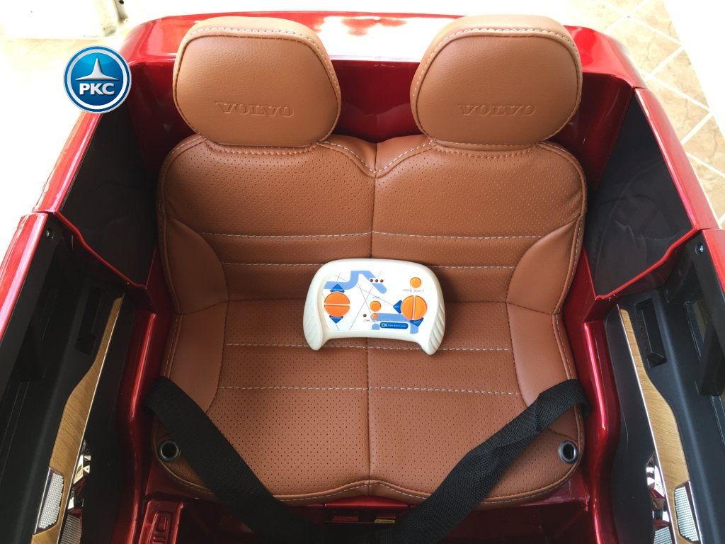 Coche electrico infantil Volvo XC90 Rojo Metalizado con mando radiocontrol