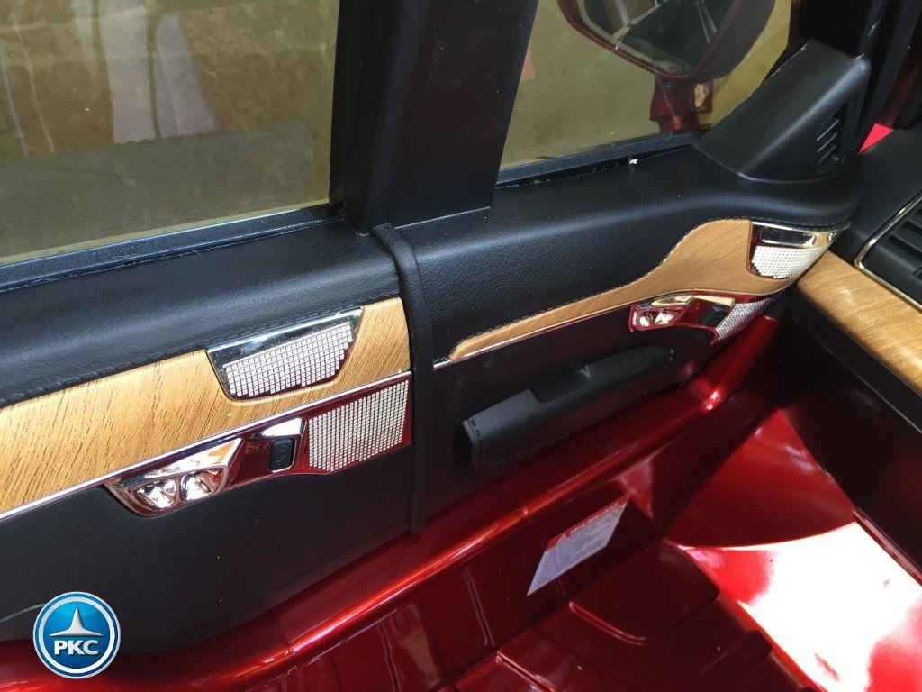 Coche electrico para niños Volvo XC90 Rojo Metalizado detalles simulando madera