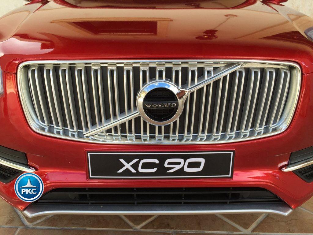 Coche electrico infantil Volvo XC90 Rojo Metalizado parrilla delantera