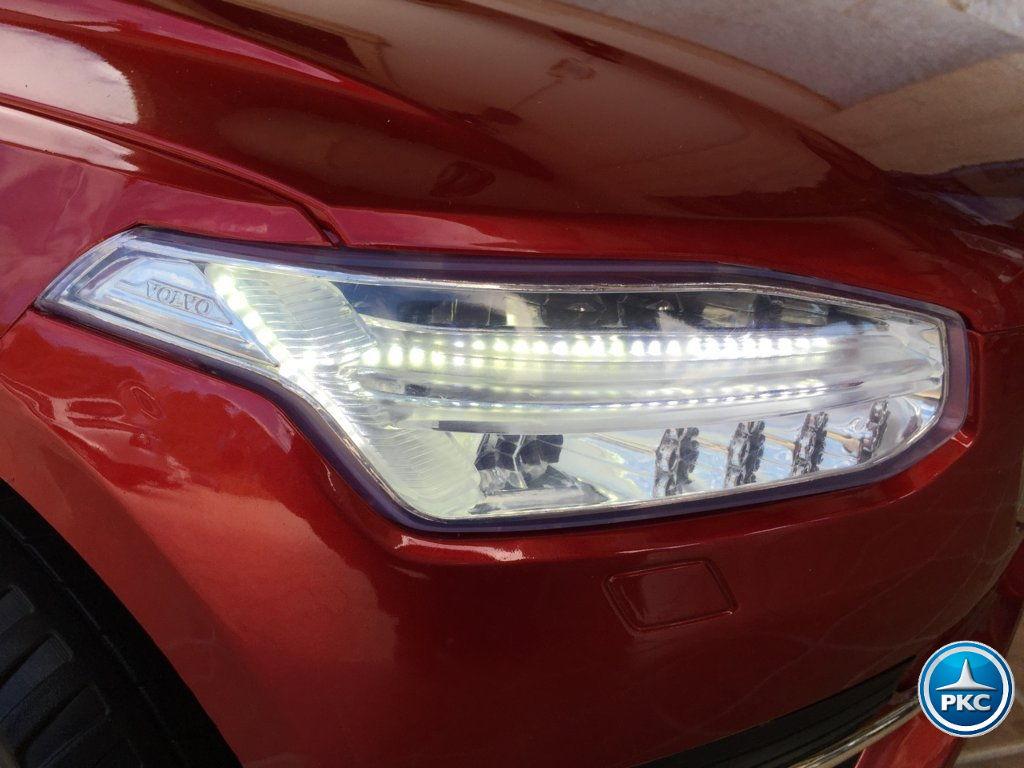 Coche electrico para niños Volvo XC90 Rojo Metalizado luces frontales
