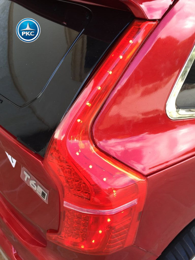 Coche electrico infantil Volvo XC90 Rojo Metalizado luces traseras