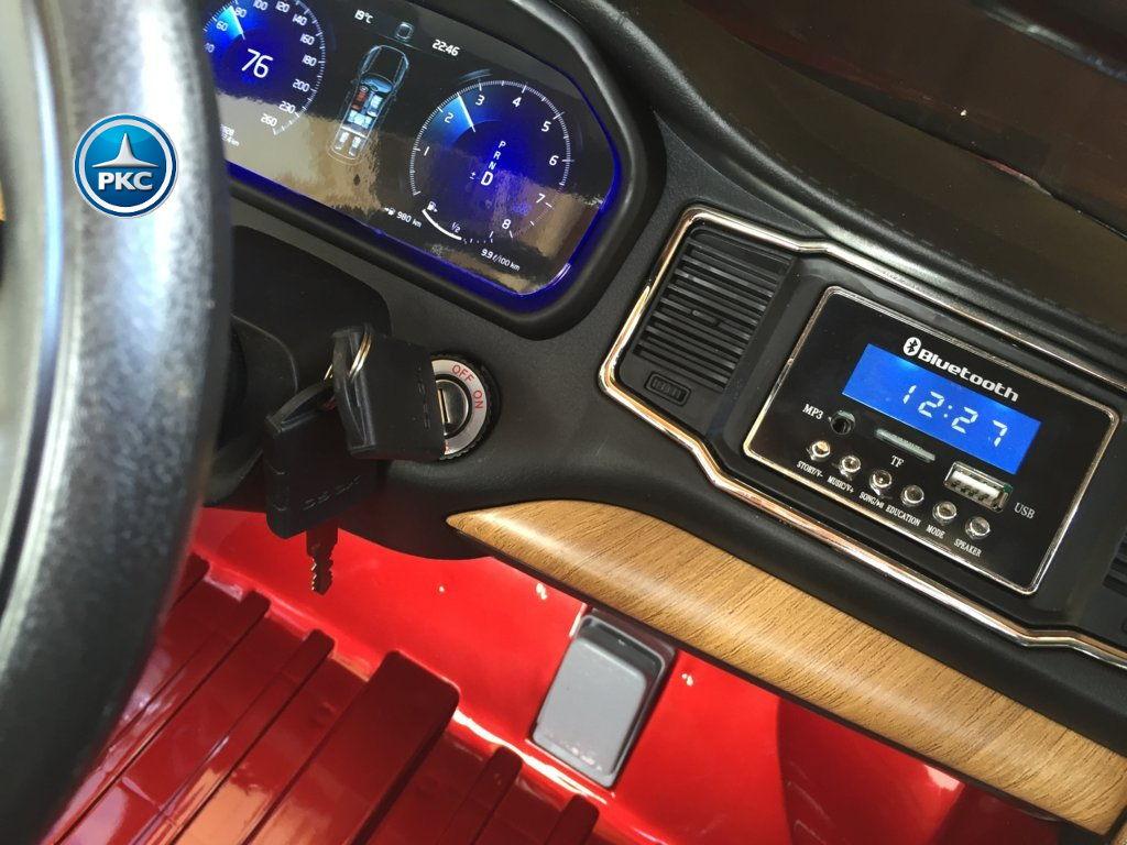 Coche electrico infantil Volvo XC90 Rojo Metalizado con llave de arranque