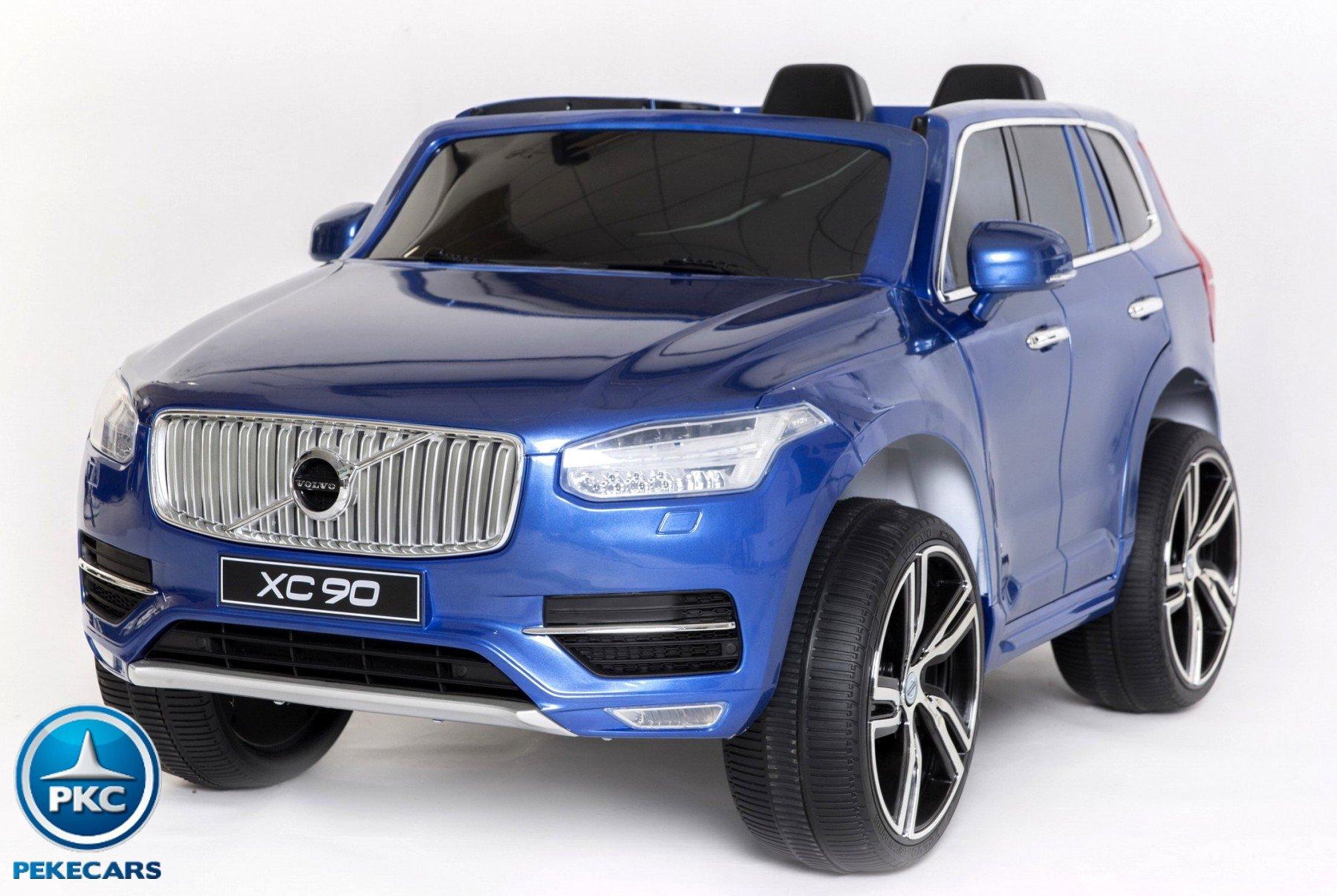 Coche electrico para niños Volvo XC90 Azul Metalizado