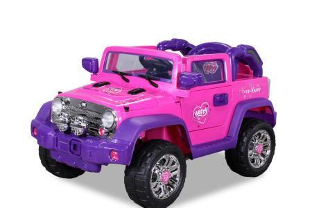 Jeep wrangler style rosa para niños top class Pekecars