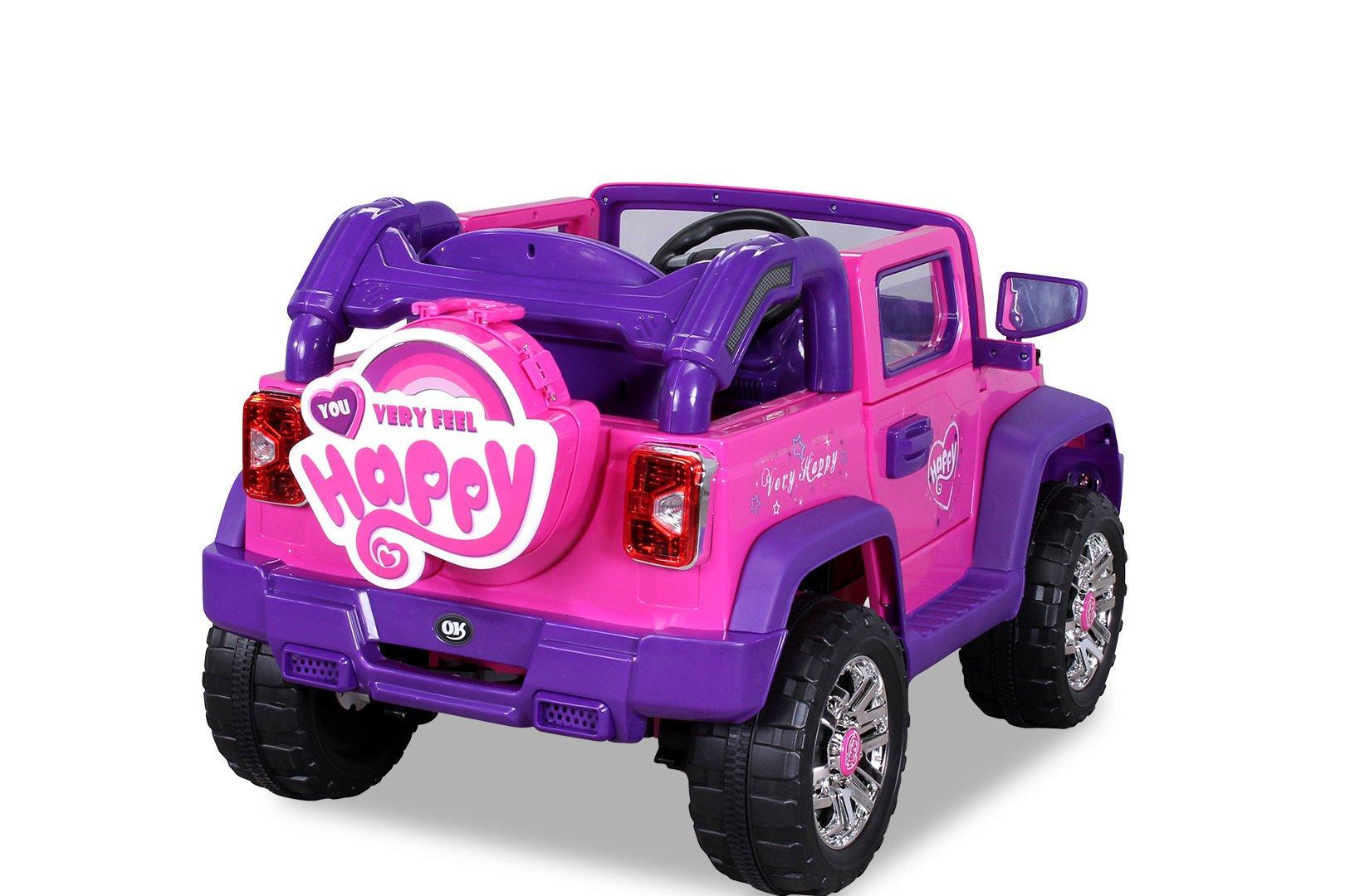 Coche electrico infantil Jeep Wrangler Style Rosa