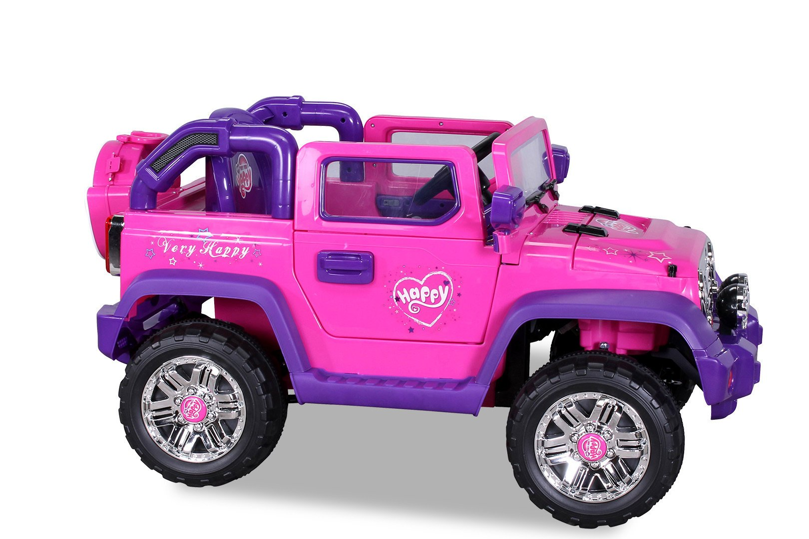 Coche electrico infantil Jeep Wrangler Style Rosa frontal
