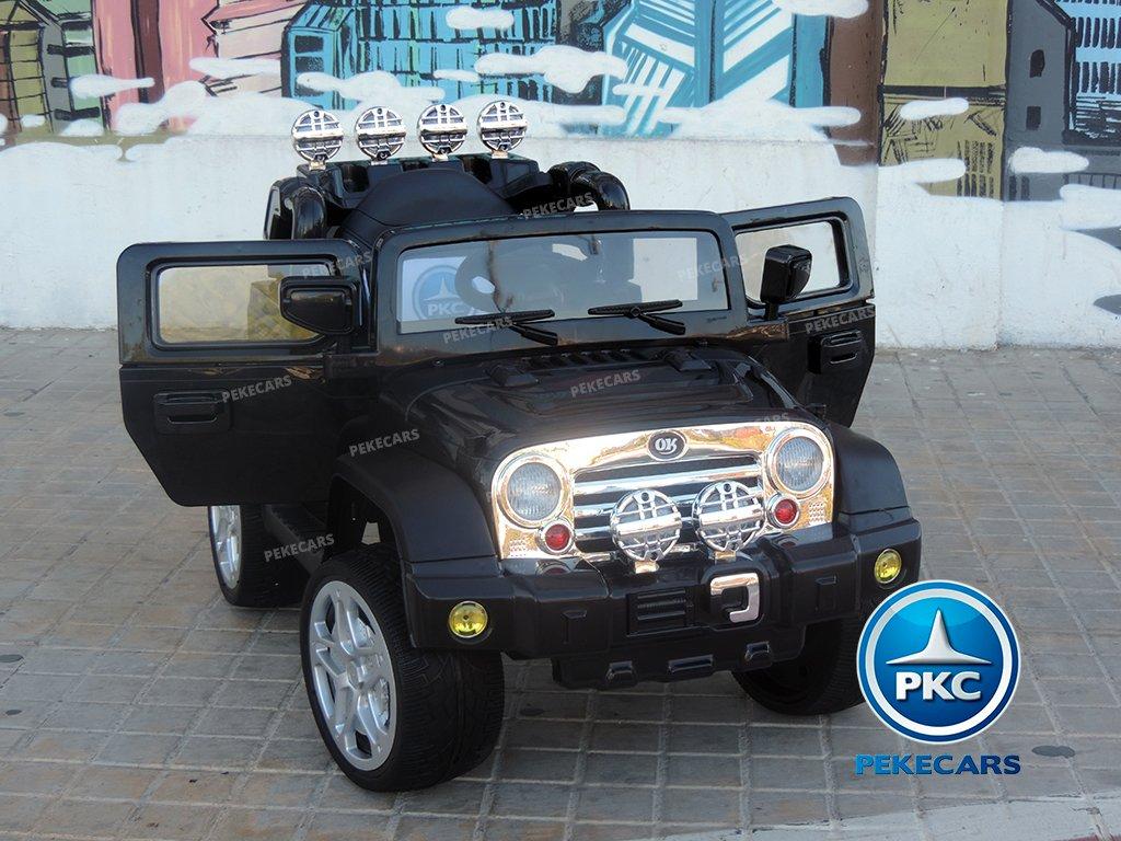 Coche electrico para niños Jeep Wrangler Style Negro vista principal
