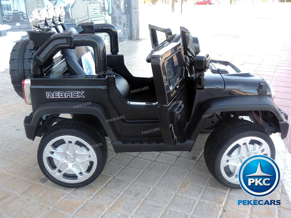 Coche electrico para niños Jeep Wrangler Style Negro vista lateral