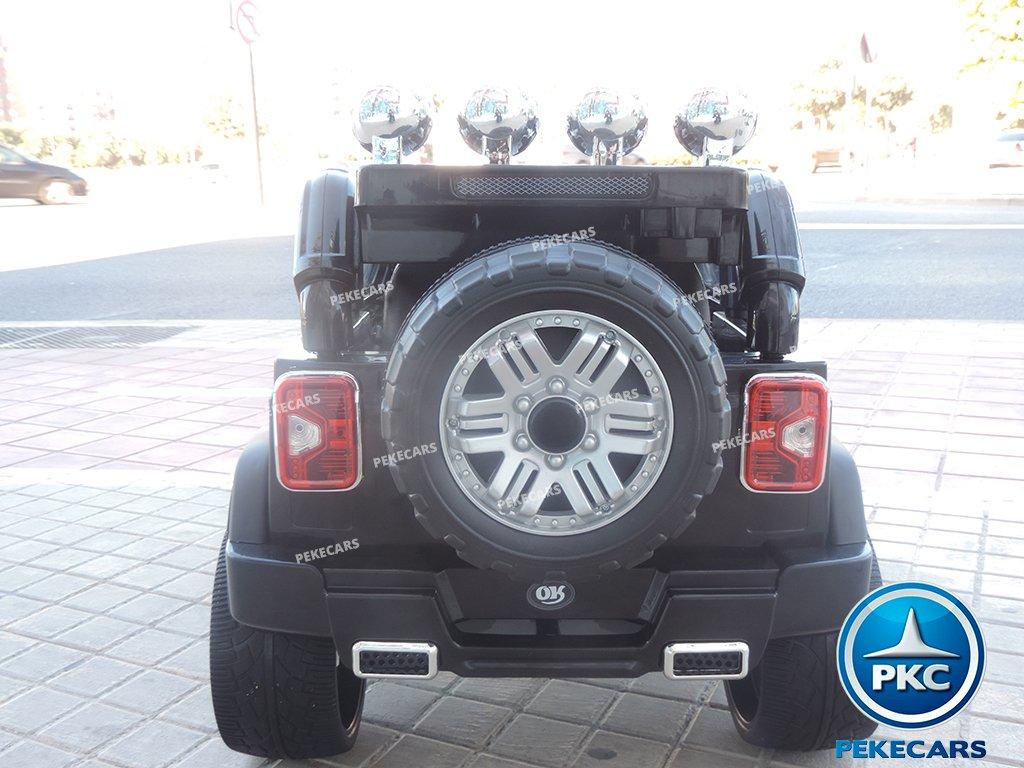 Coche electrico infantil Jeep Wrangler Style Negro vista trasera