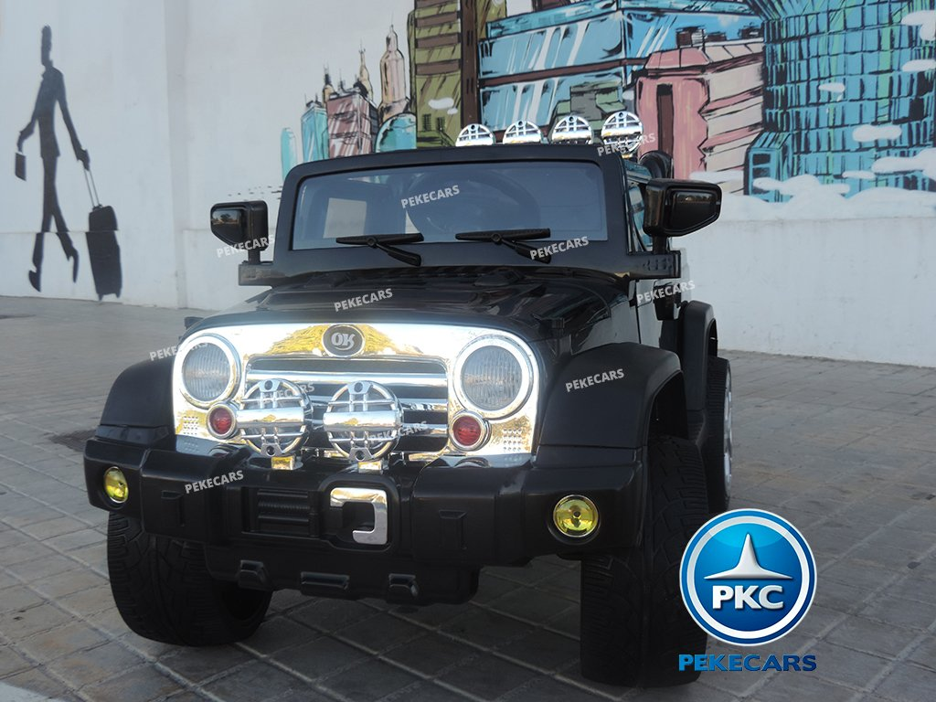 Coche electrico infantil Jeep Wrangler Style Negro