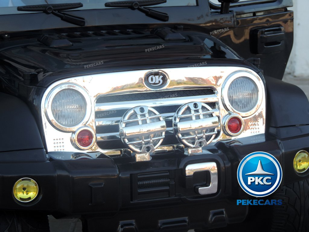 Coche electrico infantil Jeep Wrangler Style Negro frontal
