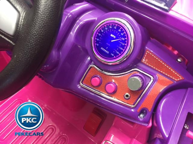 Coche electrico para niños Jeep Wrangler Style Rosa vista lateral