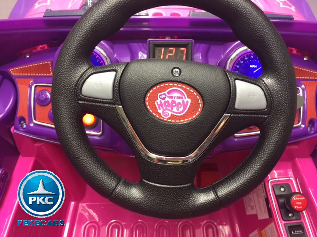 Coche electrico infantil Jeep Wrangler Style Rosa vista frontal