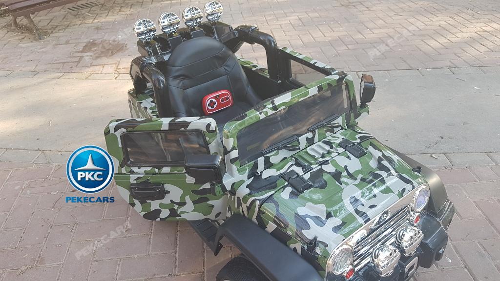 Coche electrico para niños Jeep Wrangler Style Verde Camuflaje con mando radiocontrol