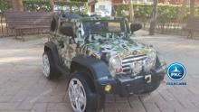 Coche electrico para niños Jeep Wrangler Style Verde Camuflaje vista principal
