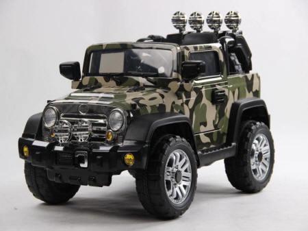 Jeep wrangle verde camuflaje
