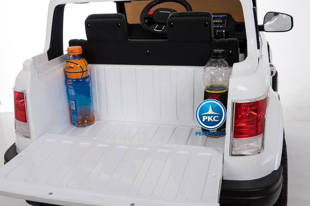 Coche electrico para niños Jeep Happer MP4 Blanco con maletero trasero
