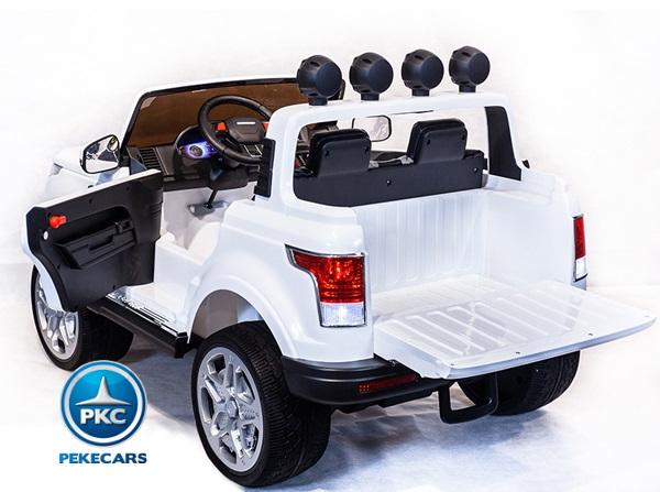 Coche electrico para niños Jeep Happer MP4 Blanco con apertura de puertas