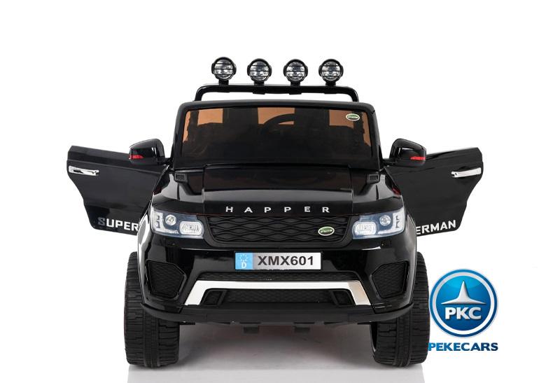 Coche electrico para niños Jeep Happer MP4 Negro  con maletero trasero