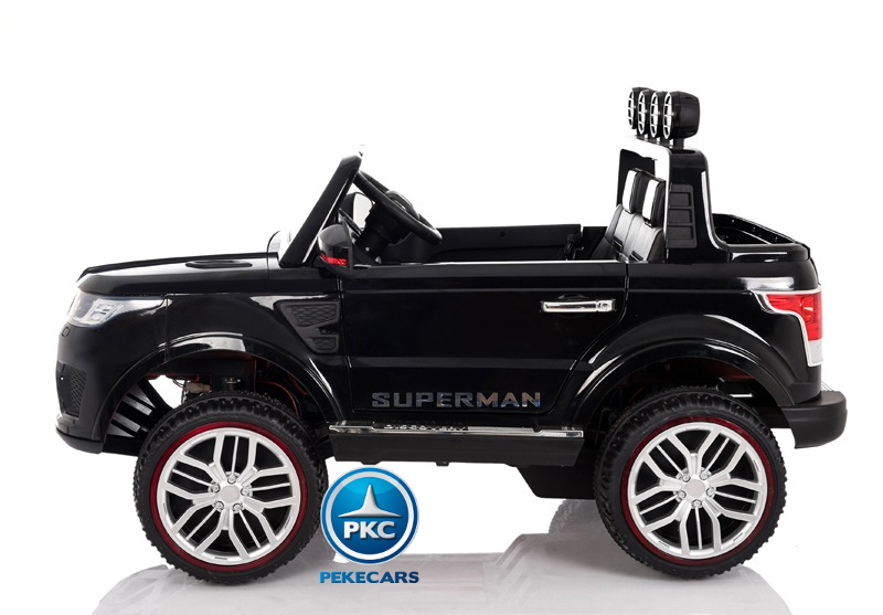 Coche electrico infantil Jeep Happer MP4 Negro pestillos de seguridad