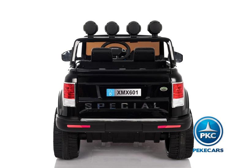 Coche electrico para niños Jeep Happer MP4 Negro con asa de transporte