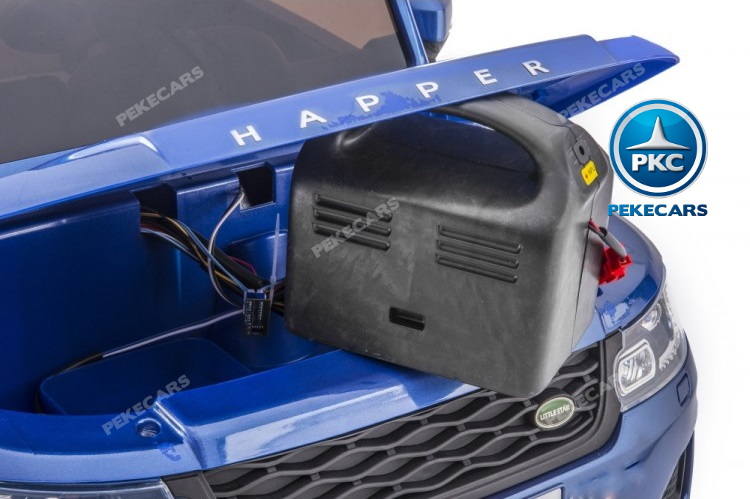 Coche electrico infantil Jeep Happer MP4 Azul Metalizado bateria extraible