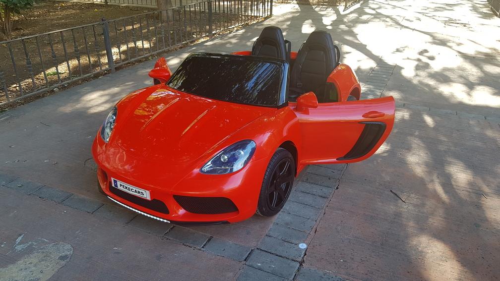 Deportivo Pekecars XL 24V Rojo - vista puertas abiertas