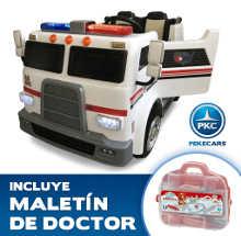 Ambulancia electrica infantil Pekecars 12V 2 plazas