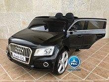 Audi Q5 para niños Negro metalizado vista principal