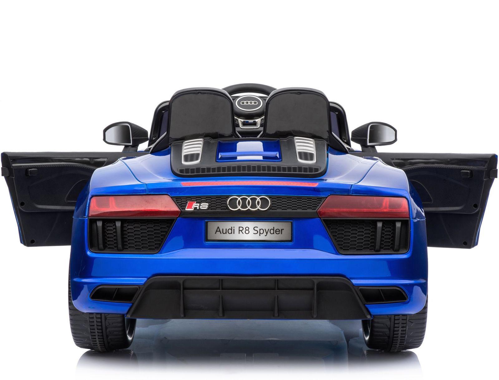 Coche electrico para niños Audi Little R8 Spyder Azul 2