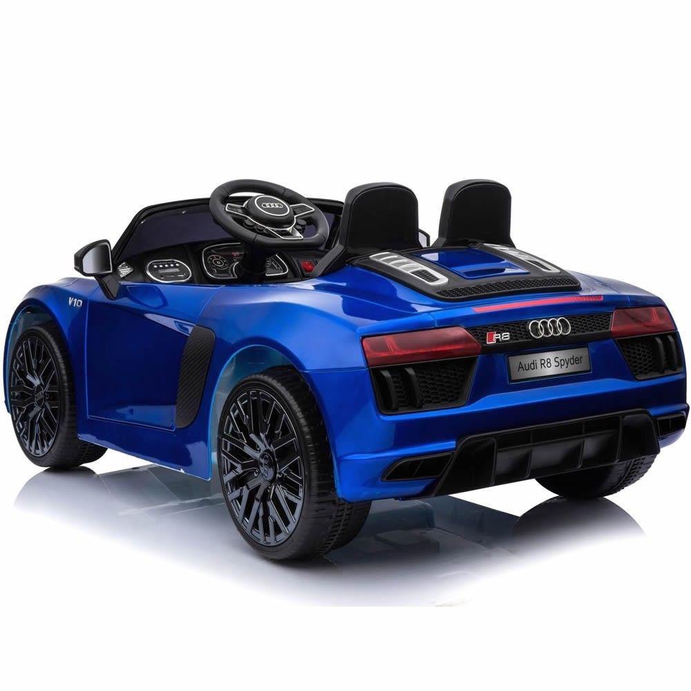 Coche electrico para niños Audi Little R8 Spyder Azul 5