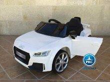 Coche electrico para niños Audi TT Blanco vista principal