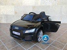 Coche electrico para niños Audi TT Negro vista principal