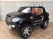 Todoterreno electrico infantil Ford Ranger Negro Metalizado vista principal