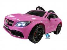 Coche electrico para niños Mercedes C63 Rosa vista principal