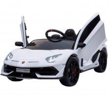 Coche Eléctrico para niños Lamborghini Aventador SVJ 12V Blanco Pintado