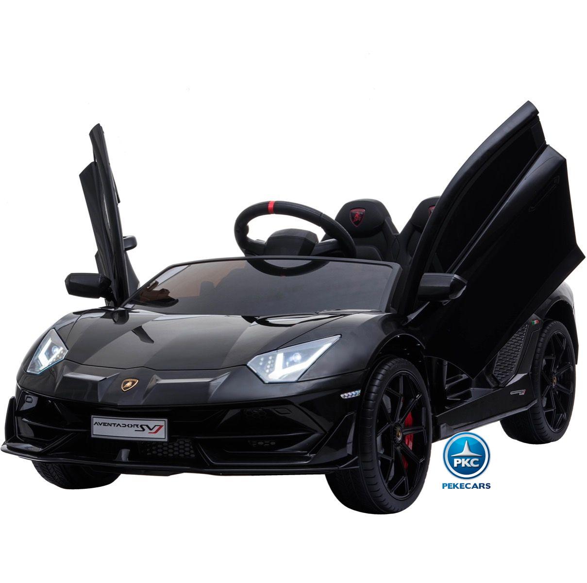 Coche Eléctrico para niños Lamborghini Aventador SVJ 12V Negro Pintado