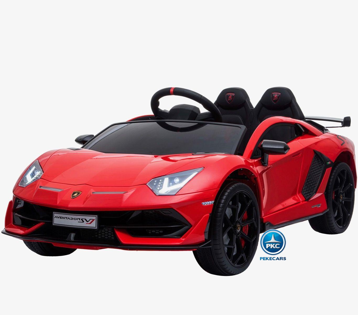 Coche Eléctrico para niños Lamborghini Aventador SVJ 12V Rojo Pintado