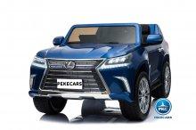 Coche electrico para niños Lexus 570 con MP4 Azul Metalizado vista principal
