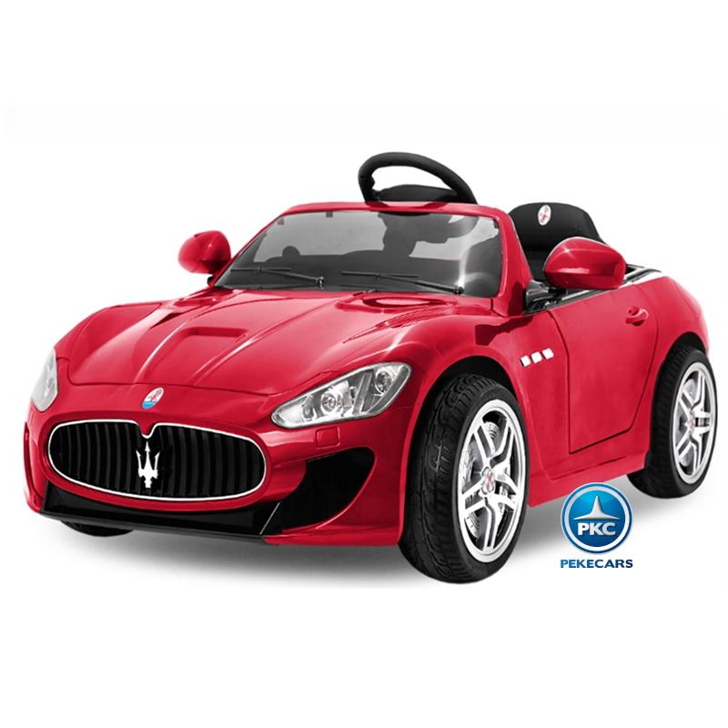 Coche electrico para niños Maserati Gran Turismo 12V Rojo vista principal