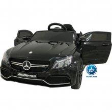Coche electrico para niños Mercedes C63 Negro Metalizado vista principal