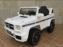 Todoterreno electrico para niños Mercedes G63 Blanco vista principal