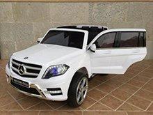 Coche electrico para niños Mercedes GLK-350 Blanco vista principal