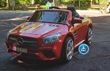 Coche electrico para niños Mercedes SL500 Rojo Metalizado vista principal