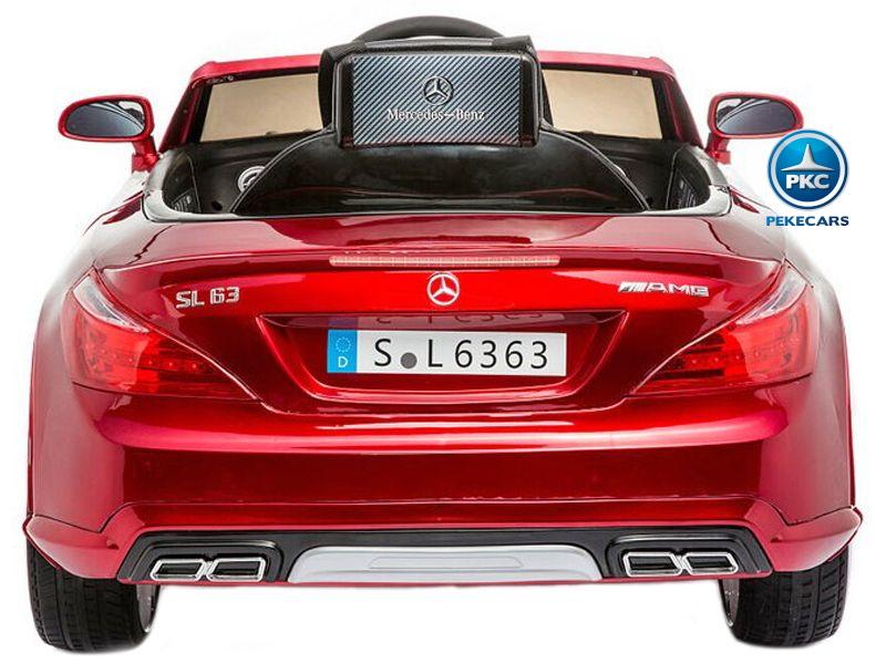 Mercedes SL63 12V Rojo Metalizado