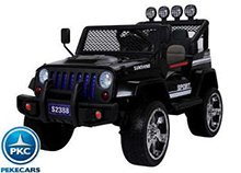 Monster jeep negro 12V con dos plazas pekecars