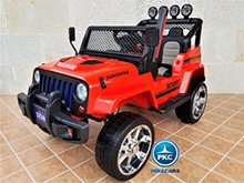 Monster jeep rojo 12V con dos plazas pekecars