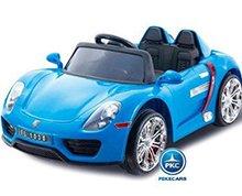Coche electrico para niños Porsche style azul vista principal