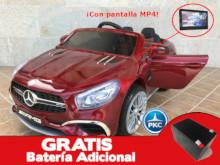 Coche electrico para niños Mercedes SL65 con MP4 y bateria extra Rojo Metalizado vista principal